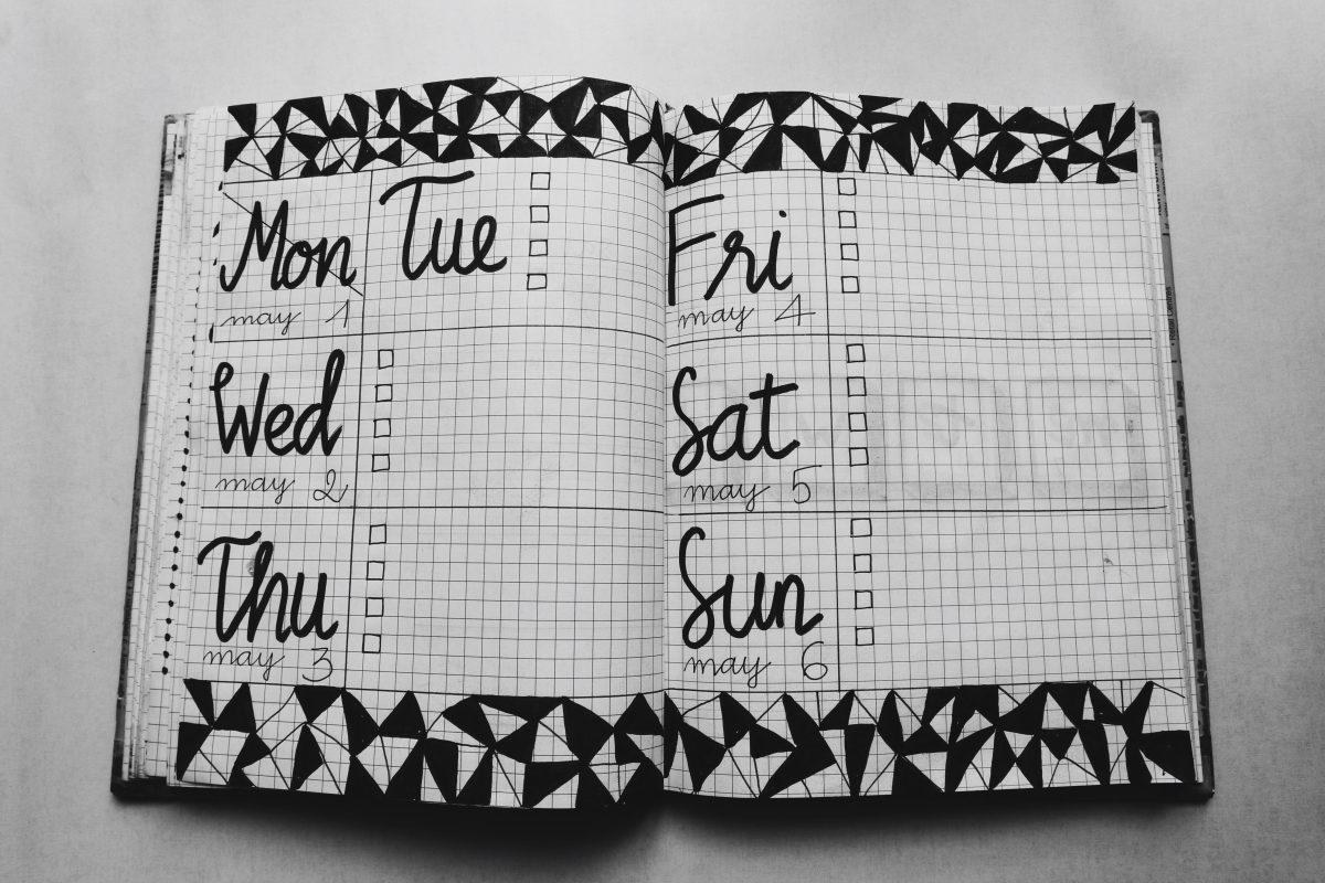 Zeitmanagement Tipps - Bulletjournal als Beispiel für einen Kalender