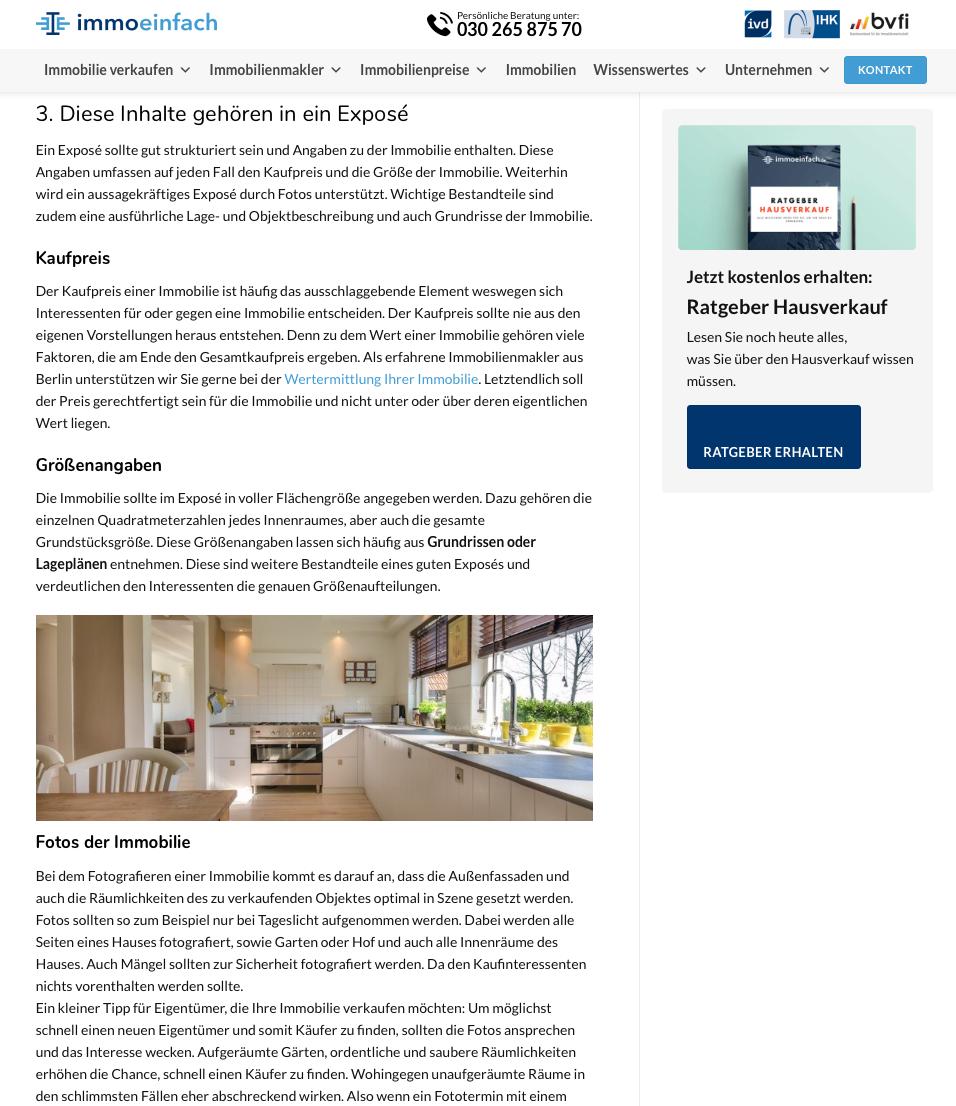 Textauszug Blogartikel zum Thema Immobilienverkauf immoeinfach
