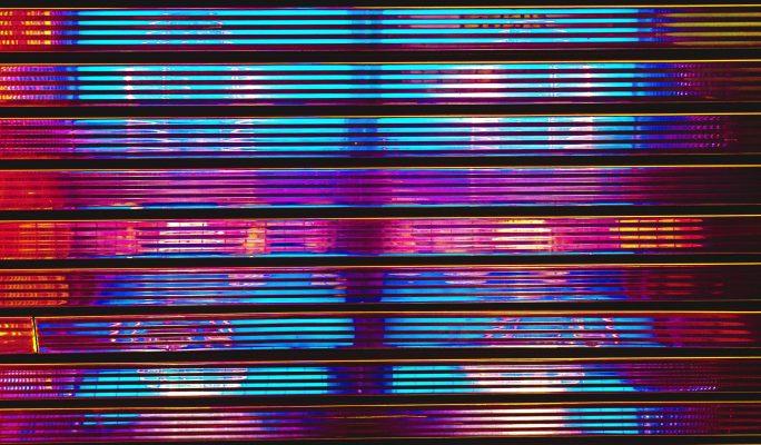 Abstrakte Wand in bunten Farben